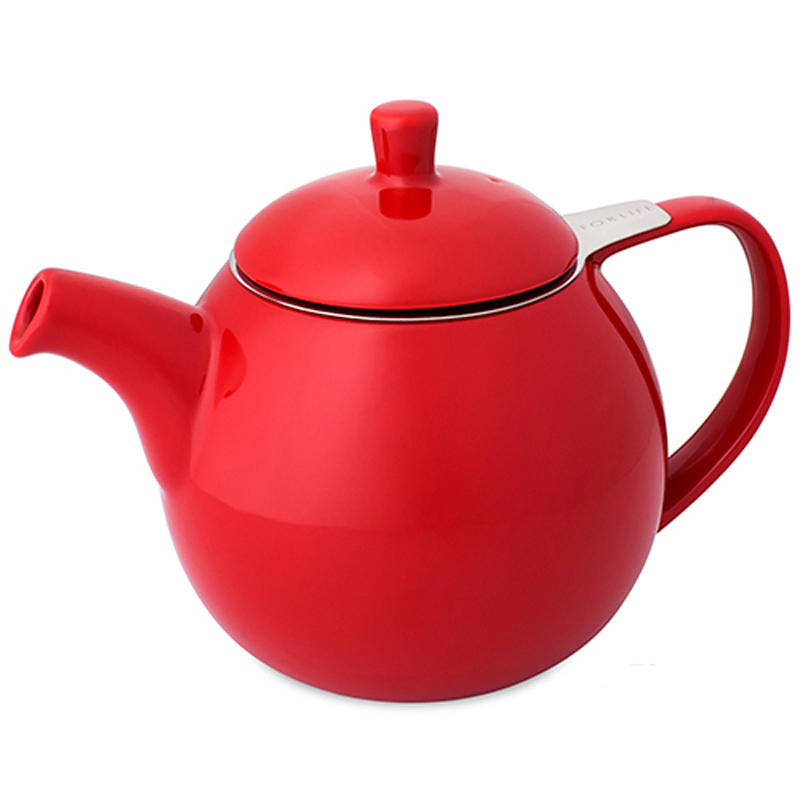 Red Curve Teapots