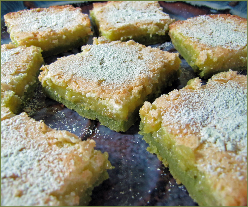 Matcha Tea Lemon Squares