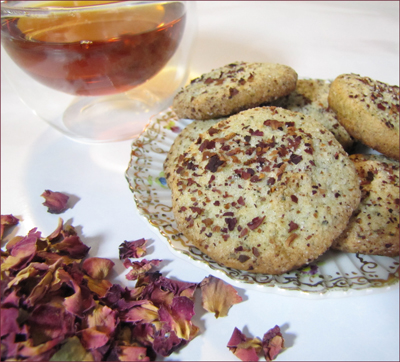 Rose Kissed Jasmine Tea Cookies
