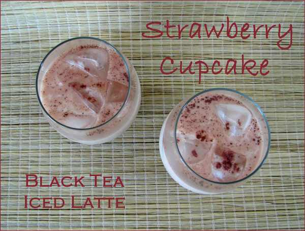 Strawberry Cupcake Tea Iced Latte