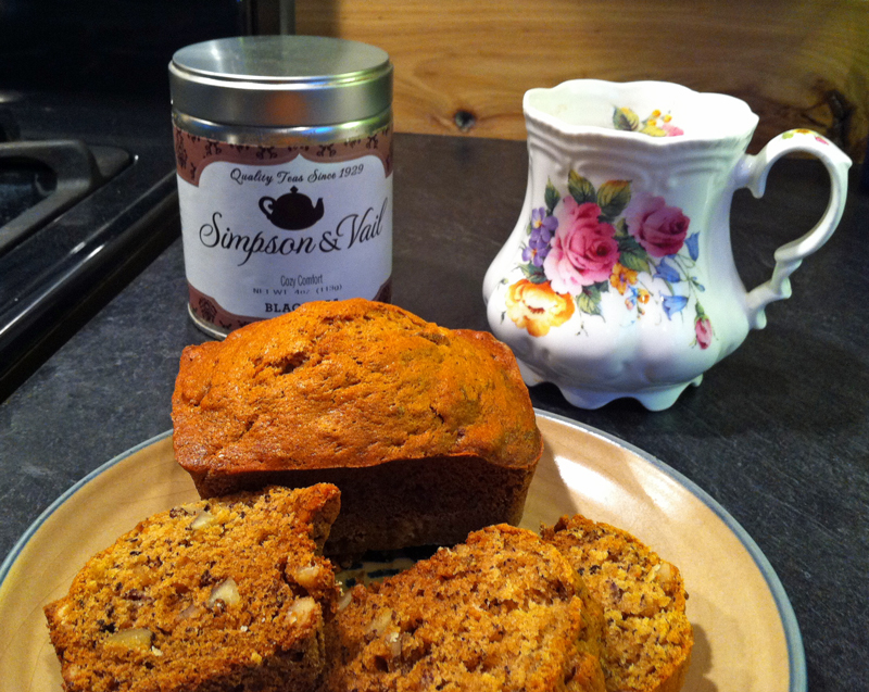 Banana Nut Bread with Cozy Comfort Tea